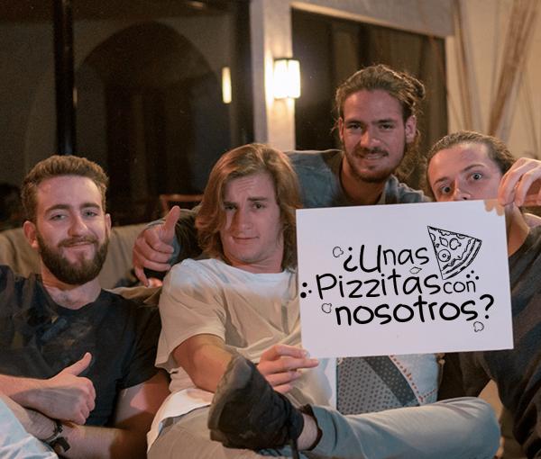 ¡Comer pizzas con Temple Sour!