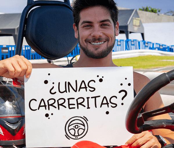 ¡Andrés Wiese quiere correr karts contigo!